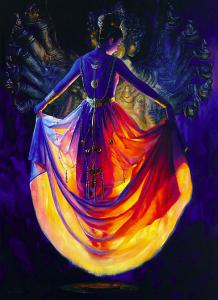Femme robe de lumire