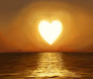 coeur soleil levant